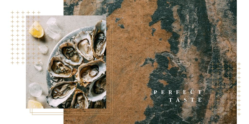 Fresh oysters on plate — Create a Design
