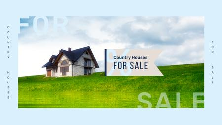 Real Estate Sale with Small Cabin in Country Landscape Youtube Design Template