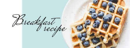 Modèle de visuel Breakfast Recipe Ad with Tasty Waffle - Facebook cover