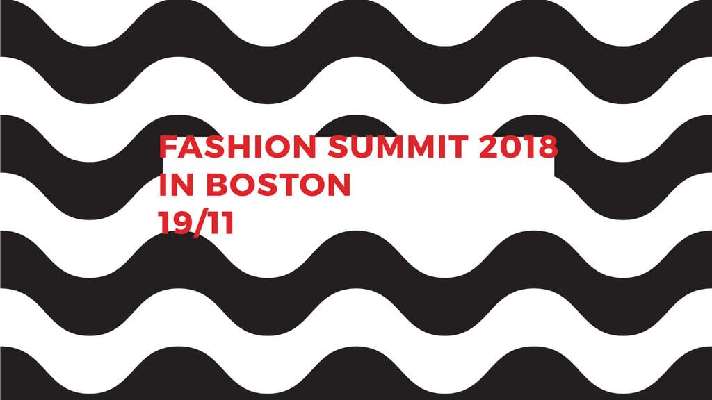Fashion Summit invitation on Waves in Black and White — Crea un design
