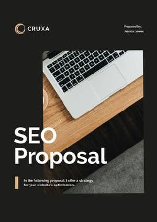 SEO services for Business Proposal – шаблон для дизайну