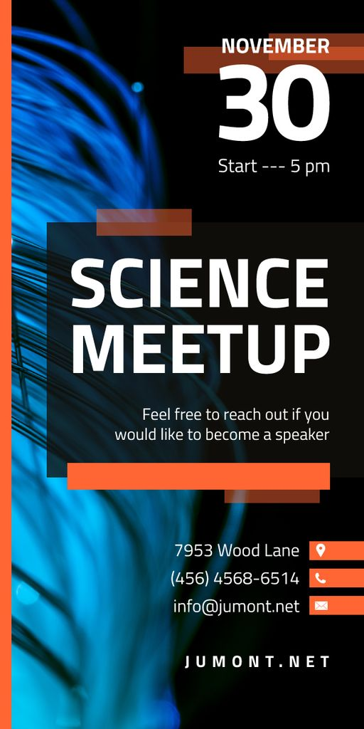 Science Meetup Electronic Wires in Blue — Modelo de projeto
