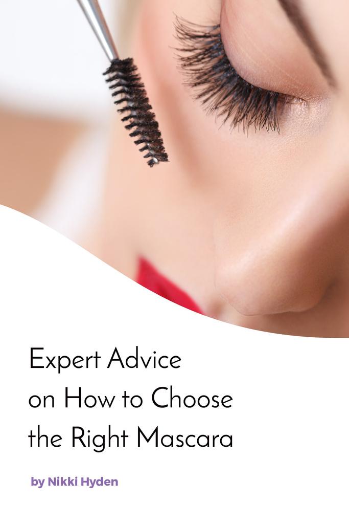 Woman applying mascara — Modelo de projeto