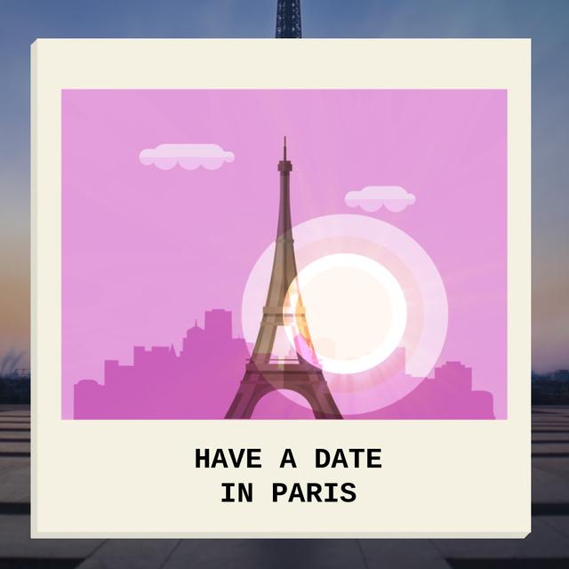 Modèle de visuel Eiffel Tower Famous Travel spot - Animated Post