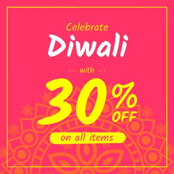 Happy Diwali Offer Mandala in Pink