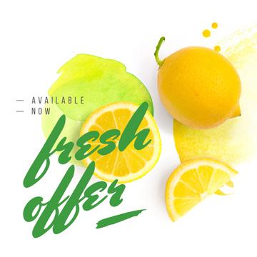 Fresh Offer with Raw lemon fruit