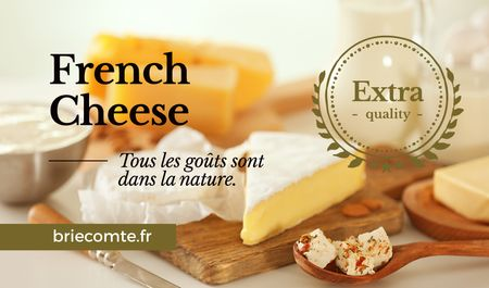 Ontwerpsjabloon van Business card van French Cheese Advertisement