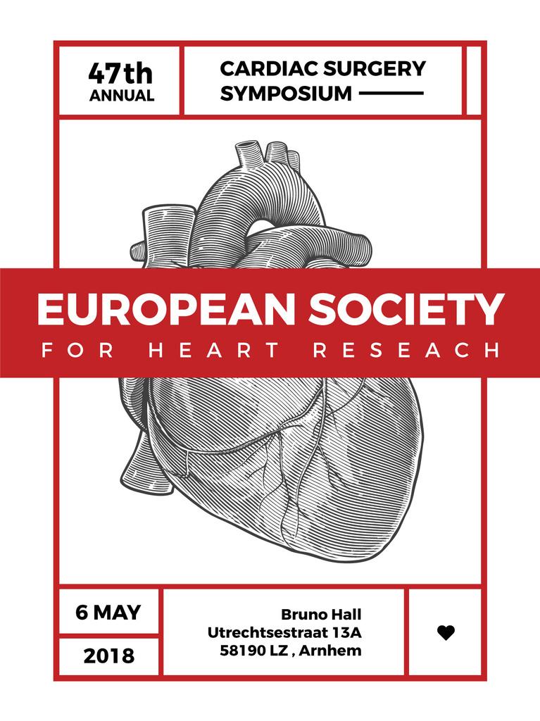 cardiac surgery symposium poster —デザインを作成する
