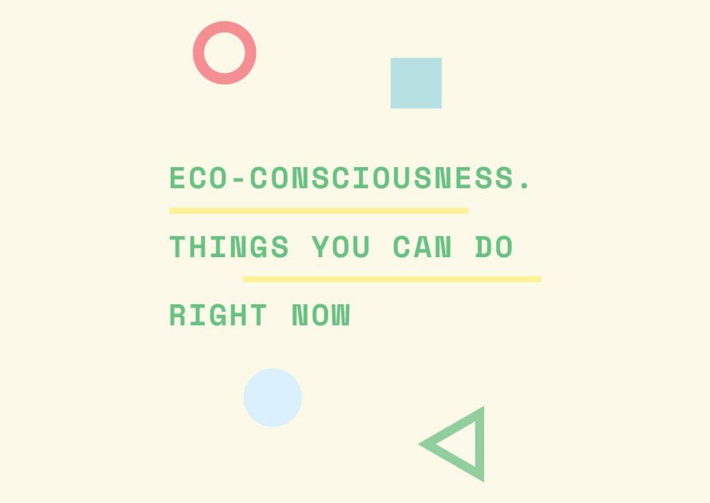 Eco-consciousness concept Card Modelo de Design