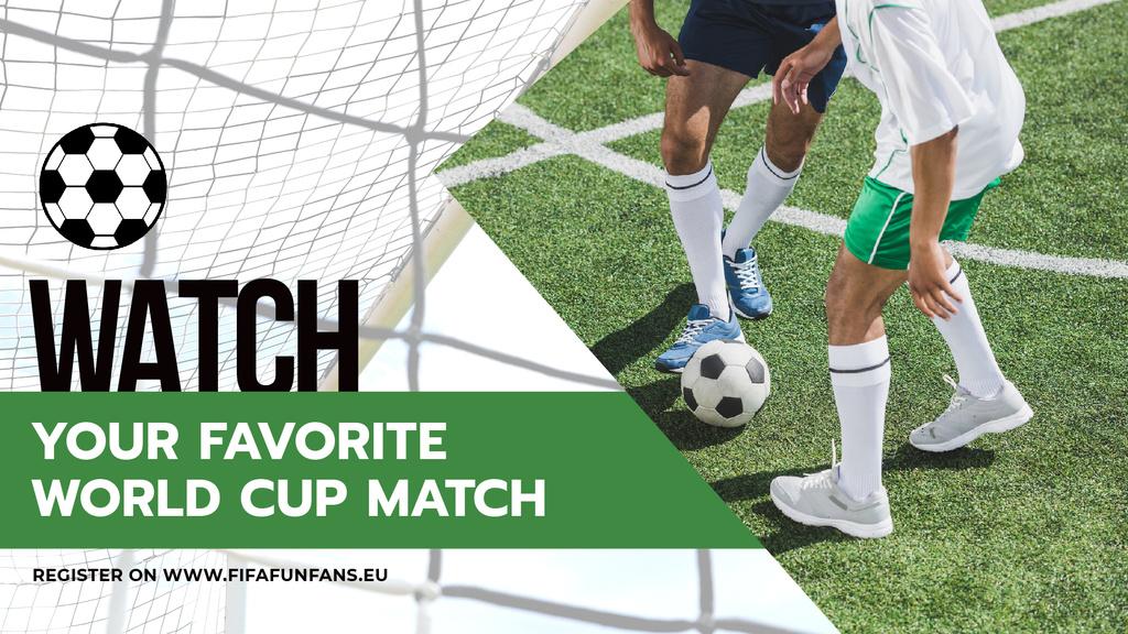Soccer Match Announcement Players on Field — Maak een ontwerp