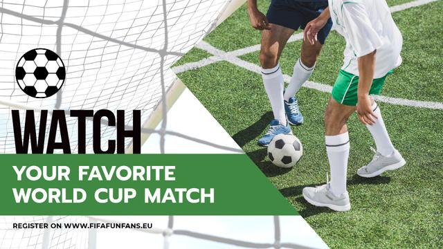 Plantilla de diseño de Soccer Match Announcement Players on Field Full HD video