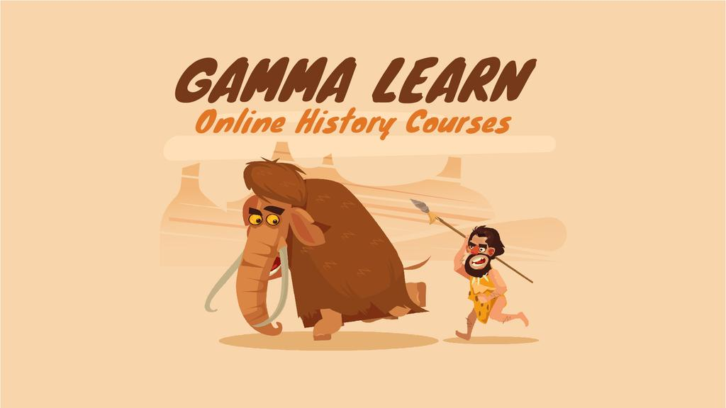 Caveman Hunting for Mammoth   Full Hd Video Template — Створити дизайн