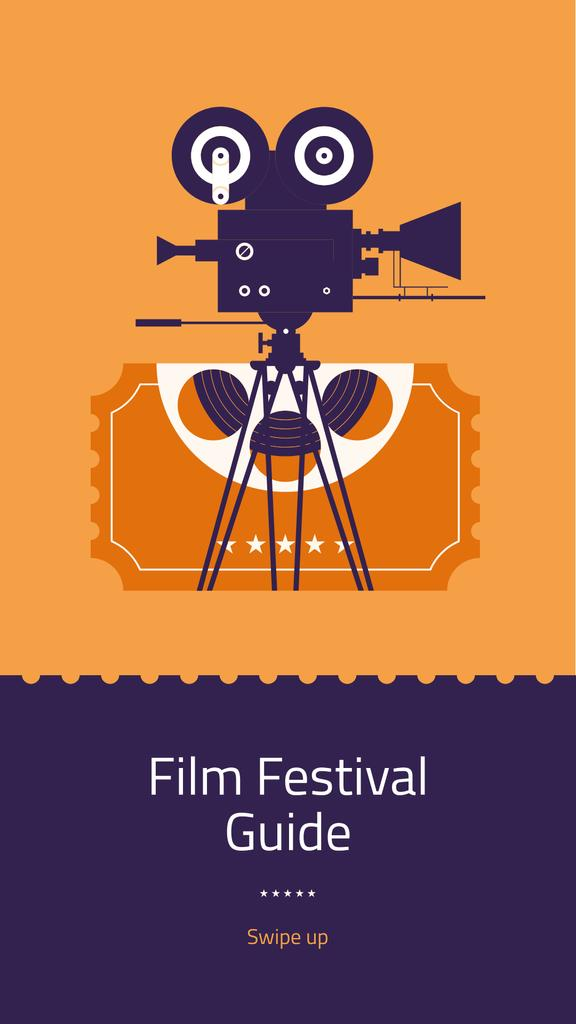 Film Festival guide with projector — Створити дизайн