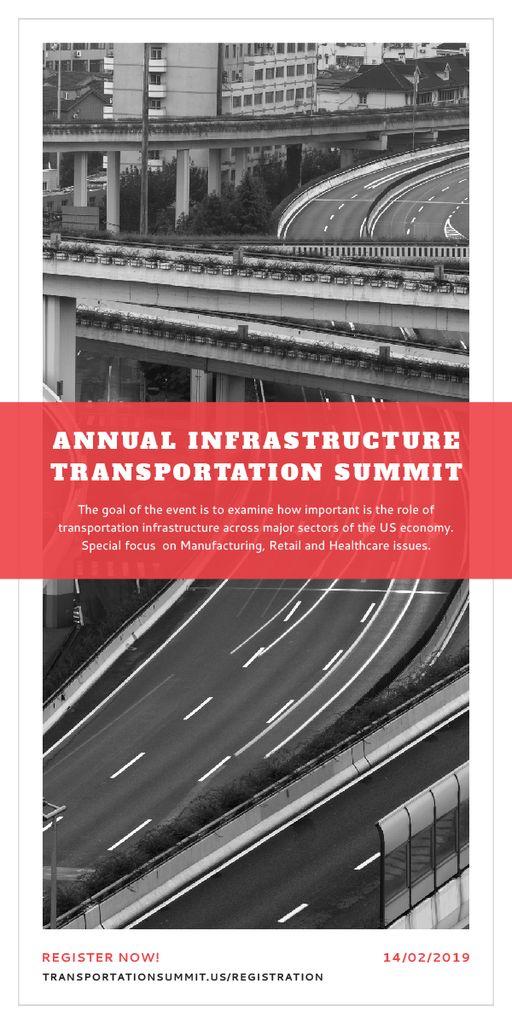 Annual infrastructure transportation summit Graphic Modelo de Design