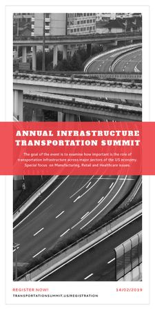Plantilla de diseño de Annual infrastructure transportation summit Graphic