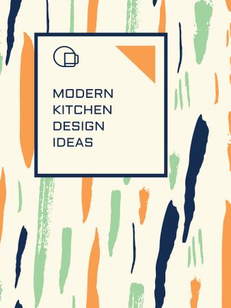 Plantilla de diseño de Kitchen Design Ad Colorful Smudges Poster US