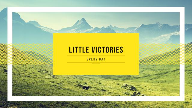 Plantilla de diseño de Inspirational Quote with Mountains Valley Landscape Youtube