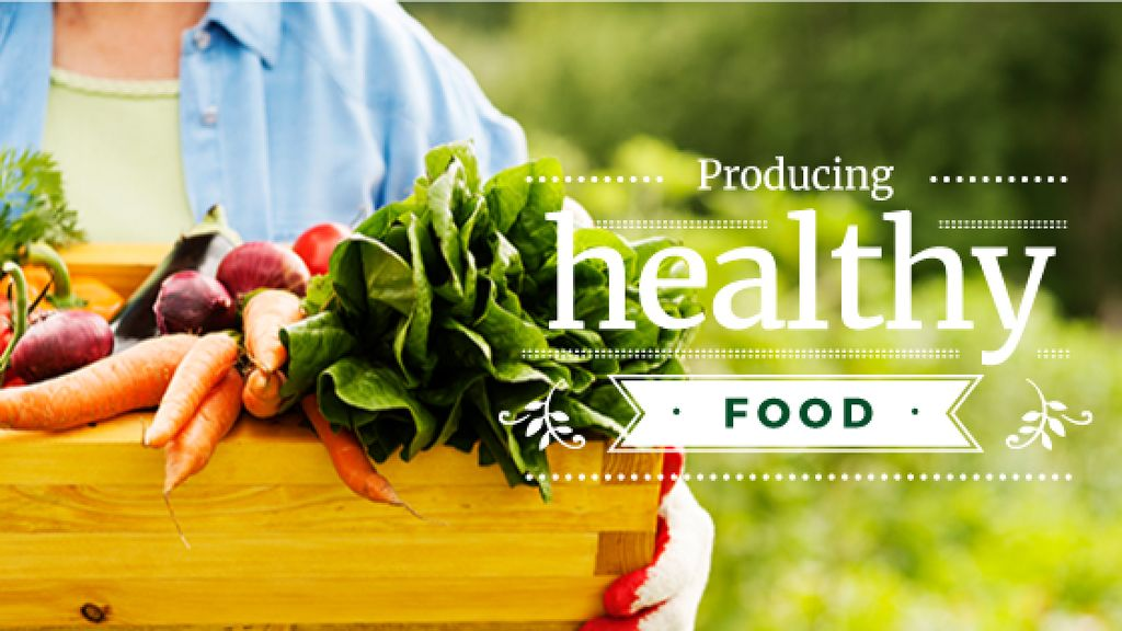 producing healthy food poster — Modelo de projeto