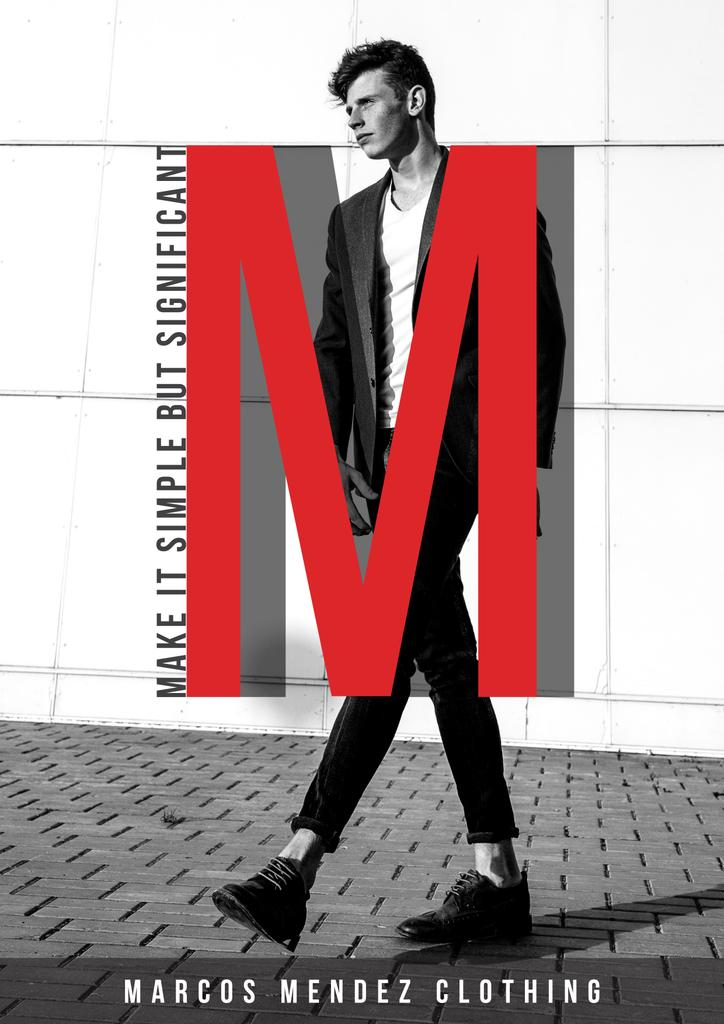 Male clothing fashion collection ad — Maak een ontwerp