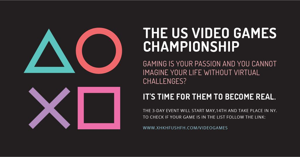 Video games Championship with geometric figures — Создать дизайн