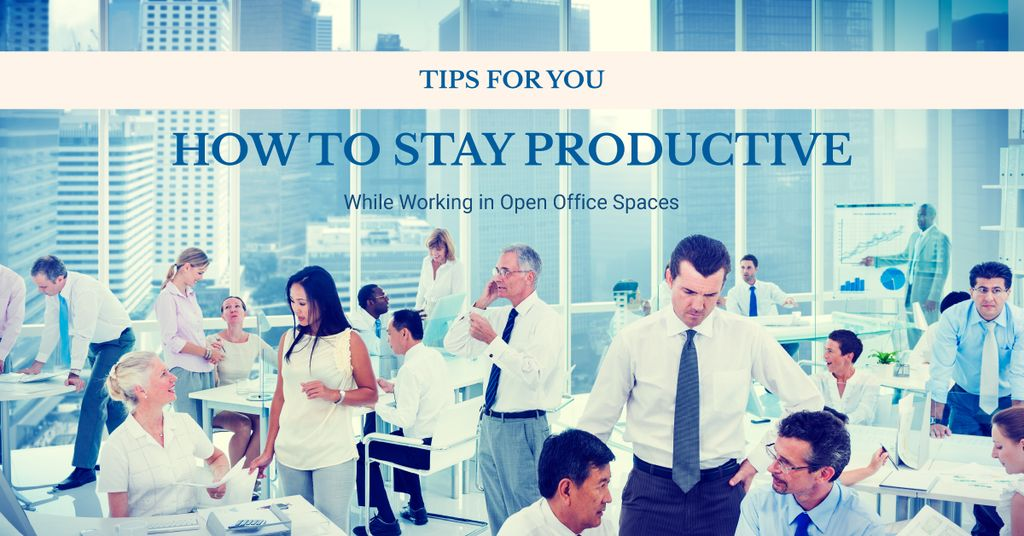 How to stay productive tips poster — Створити дизайн