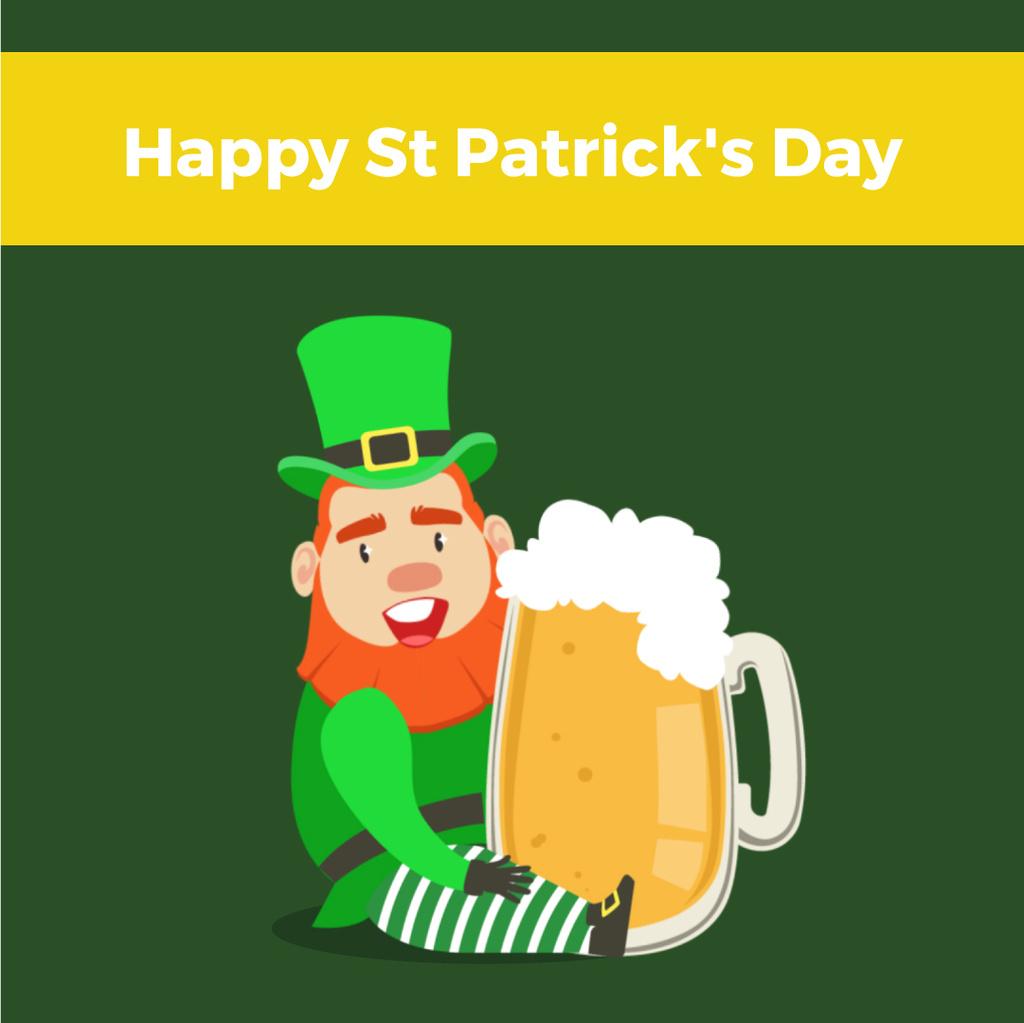 Saint Patrick's leprechaun with Beer – Stwórz projekt