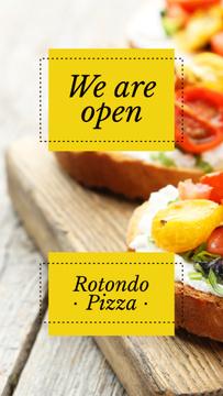 Restaurant promotion with Italian dish