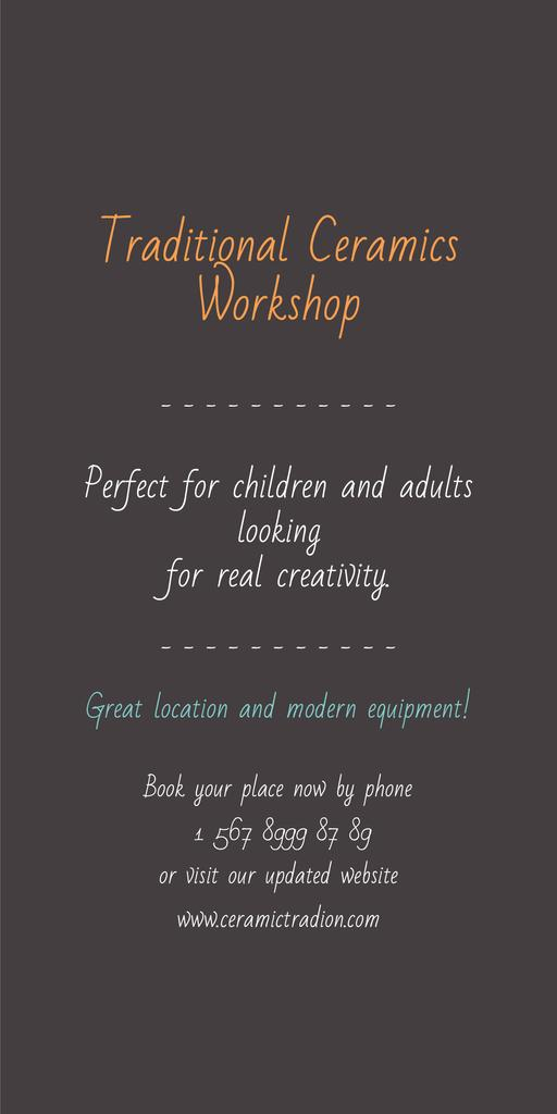 Traditional Ceramics Workshop promotion — Crear un diseño