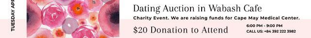 Modèle de visuel Dating Auction in Wabash Cafe - Leaderboard