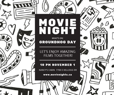 Szablon projektu Movie night event Large Rectangle