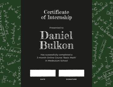 Math Course Internship completion