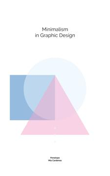 Minimalism in Design Colorful Geometric Figures