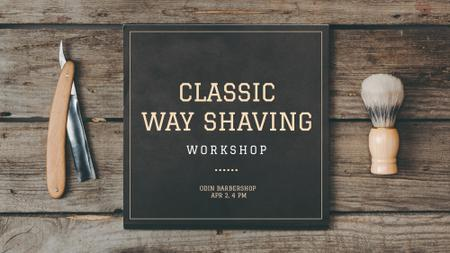Barbershop Professional Tools Sale FB event cover – шаблон для дизайна
