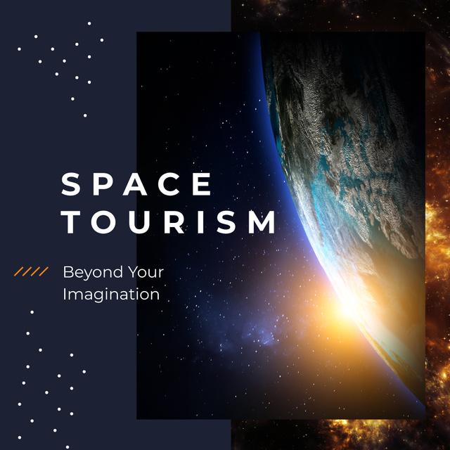 Modèle de visuel Earth view from space - Instagram