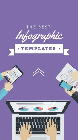 Template di design Business Team working on infographic Instagram Story