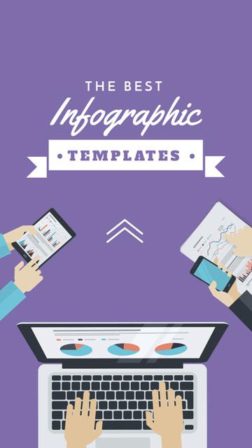 Business Team working on infographic Instagram Story Modelo de Design