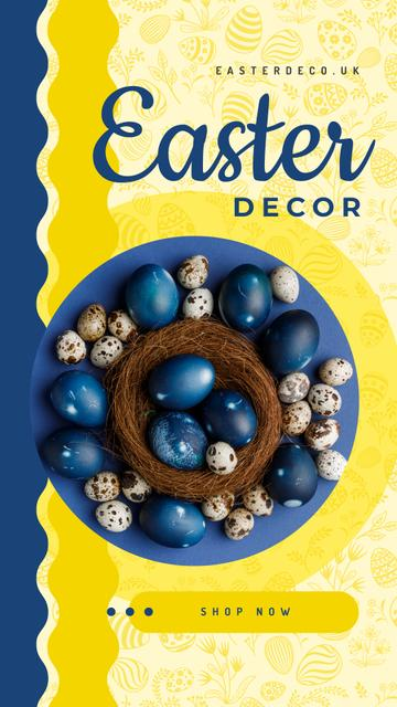Colored Easter eggs Instagram Story Modelo de Design