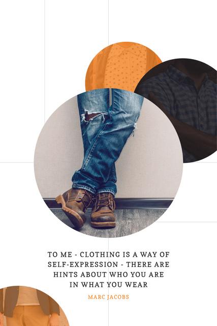 Plantilla de diseño de Citation about clothing Pinterest