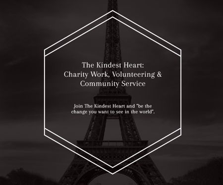 The Kindest Heart: Charity Work Medium Rectangle Modelo de Design