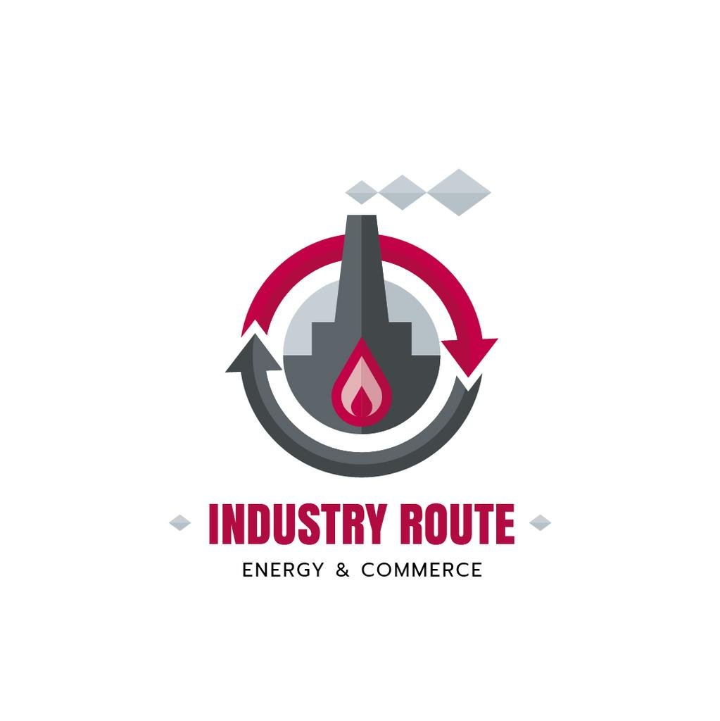 Industrial Company with Plant and Chimney — Crear un diseño