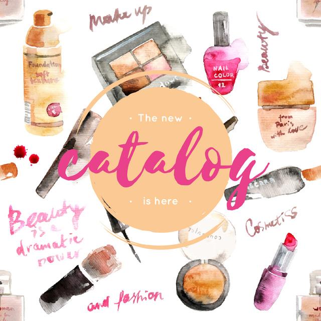 Makeup cosmetics catalog in Pink Instagram AD – шаблон для дизайна