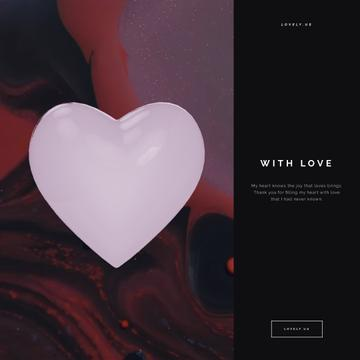 Bouncing heart on wavelike background