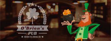 Saint Patrick's leprechaun with coins