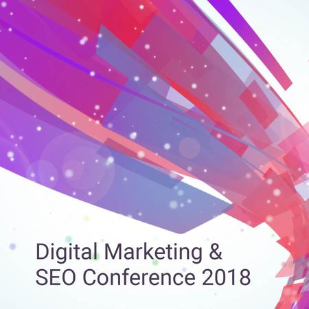 Template di design Marketing Conference Announcement with Bright flowing lines Animated Post