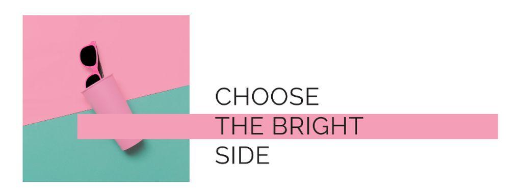 Ontwerpsjabloon van Facebook cover van Bright Sunglasses on Pink