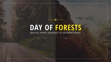 International Day of Forests Event Forest Road View | Youtube Channel Art
