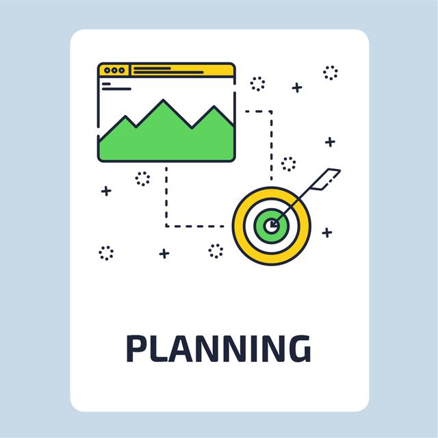 Plantilla de diseño de Business target and achievements Animated Post