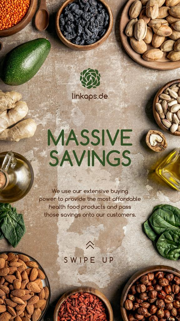 Natural Organic products and vegetables Offer Instagram Storyデザインテンプレート