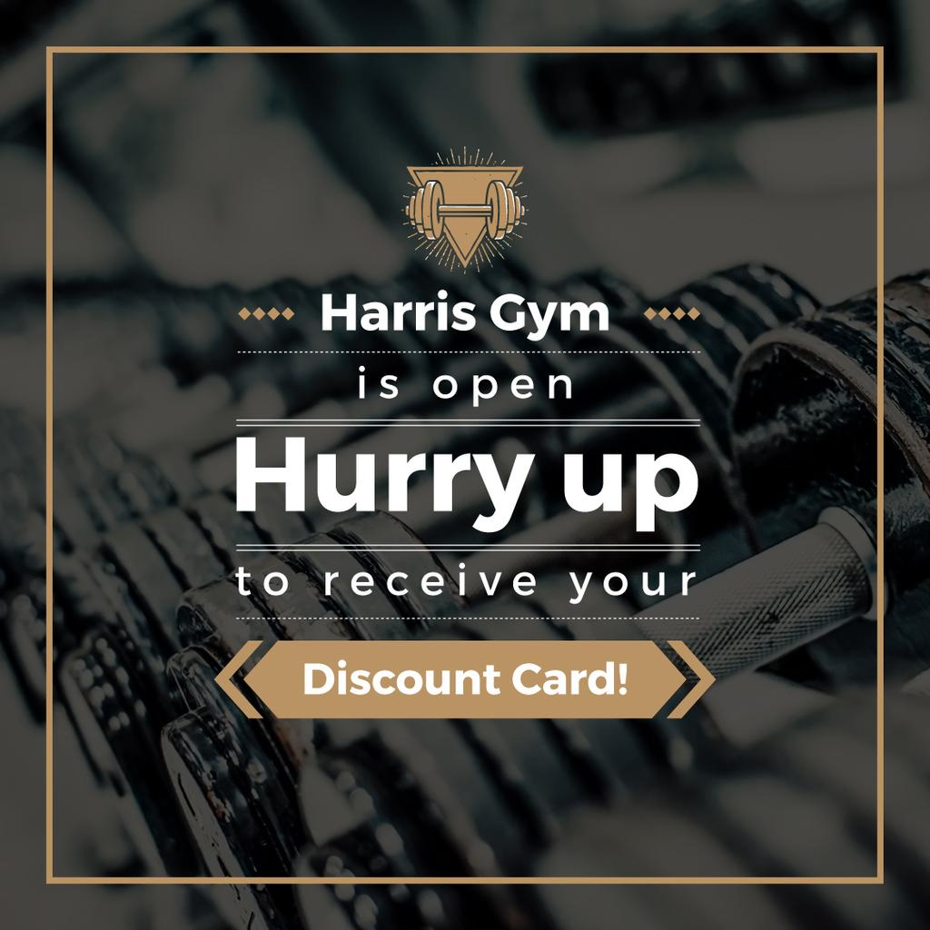 Gym Membership Offer with Dumbbells — Створити дизайн