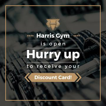 Discount card for gym
